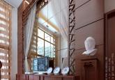 复式客厅电视背景墙装修设计效果图