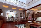 高档富贵别墅客厅复式楼装修效果图