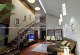视觉空间复式客厅装修设计效果图