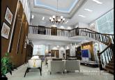 高端旋转楼梯复式客厅装修效果图