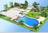 现代别墅豪宅庭院布置效果图