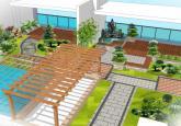唯美别墅庭院平面效果图