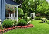 别墅后花园景观绿化平面图