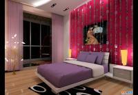 某红色现代风格室内装修设计施工图纸附效果图