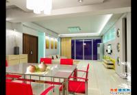 zx100某三房户型全套装修设计施工图与效果图