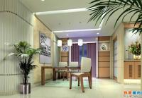 深圳某样板房室内装修设计全套施工图(带效果图)