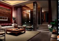 重庆奥园三层联排别墅装修设计施工图+效果图6.6 m×16m