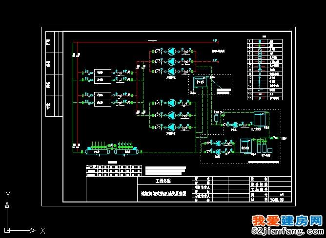 地源侧闭式热泵系统原理图