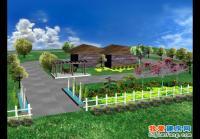 ty001湖畔工作室庭院景观设计图