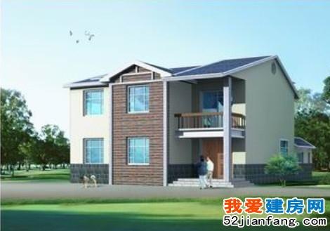 湖南平原湖区新农村双拼二层住宅房屋设计图16.5m×12m