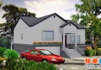 A02农村一层带地下室小别墅设计结构施工图及效果图12m×14m