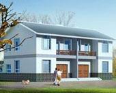 458湖南省平原新农村可双拼二层别墅房屋设计图8m×14m