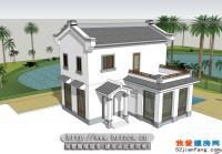 二层新农村小型别墅自建房屋全套建筑设计图纸10m×9m