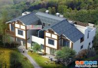 A09农村双拼住宅二层带阁楼别墅图纸全套施工图 22.5m×15.3m