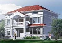 991二层新农村别墅带阁楼住宅建筑设计图12m×11m