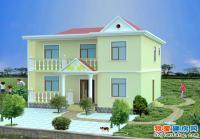 698二层时尚简约农村小别墅住宅设计图10m×10m