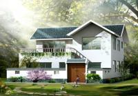二层农村房屋别墅效果建筑结构水施工图 10m×11m