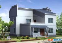 1101新家村二层房屋建筑设计施工图附效果图 10.5m×13m
