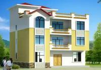 338三层半新农村别墅全套结构设计图纸及效果图12.5×10m