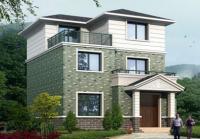 483号90平米小型农村三层带露台小别墅全套设计图纸8m×10.5m