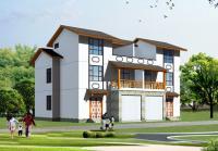 558 新农村三层双拼别墅平面布局设计方案 17.88m×10m