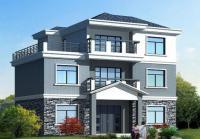 497 三层经典农村别墅自建房屋设计图纸 12m×9m