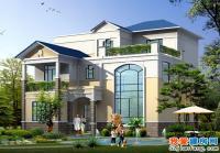 610简欧式住宅楼别墅建筑施工图纸附水电及效果图13m×14m