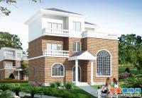 619新农村三层住宅自建房建筑方案设计图11m×11m