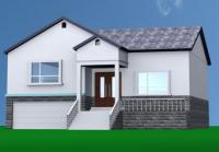 AT002农村一层带地下室小别墅房屋全套设计图纸12m×14m