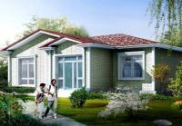 一层新农村房屋设计别墅全套施工图纸效果图12m×9m