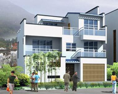 三层现代别墅带车库建筑结构全套施工图纸 10m×10m