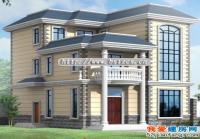 框架结构平屋顶三层豪华别墅设计图纸结构水电图10m×13m