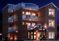 新农村现代房屋设计图电子版CAD设计图 14m×12m