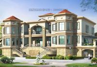 占地370平米大型豪华欧式三层别墅设计图24mx16m