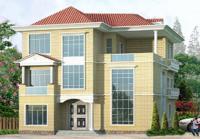 三层200平米私人豪华现代别墅设计图纸15m×17m