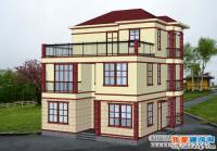 120平米三层新农村小康实用别墅设计图与效果图10m×12m