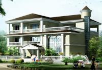 仿欧式风格三层别墅房屋设计图方案17m×16m