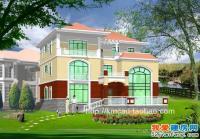 886号新农村清新复式楼三层别墅施工图纸16m×15m