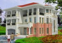925首层192平方米三层豪华意大利风格带车库别墅设计图 14.8m×18m