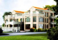 923三层泰式风格豪华兄弟别墅建筑结构水暖电施工图 28m×22m