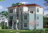 占地115平米三层简约别墅房屋设计建筑图15m×9.3m