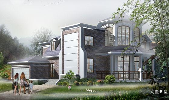 5202两层欧式现代复式楼豪华别墅设计图纸 17m×20m