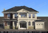 AT256湖南经典二层带车库豪华别墅设计图纸18m×11m