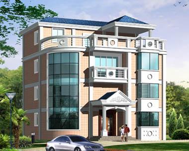 AT406四层别墅建筑结构设计效果图