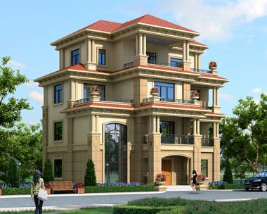 AT1670四层高端豪华欧式别墅建筑施工图纸