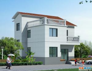 90平米2层半江山市农村自建别墅房屋简洁实用设计图纸