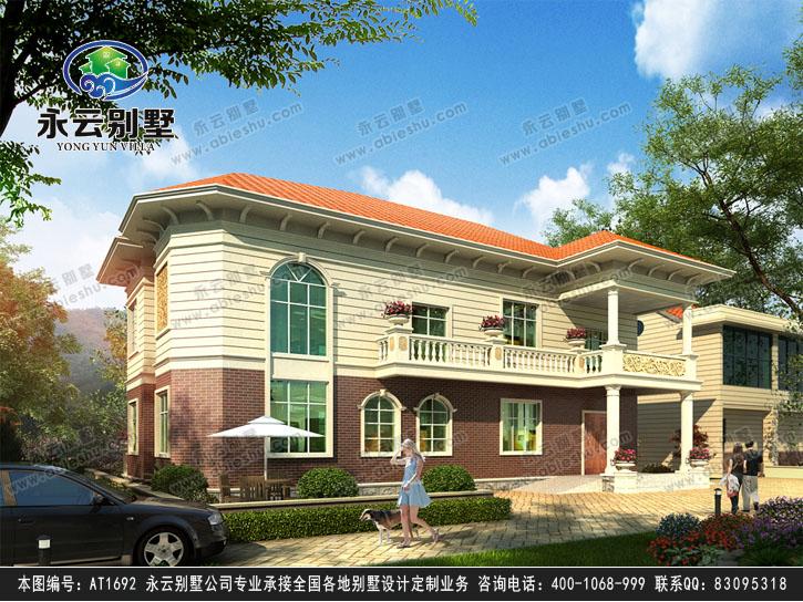 AT1692二层新农村现代简洁别墅效果图
