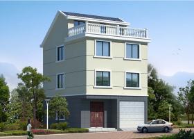 JF014三层半带车库大露台农村别墅设计方案及效果图