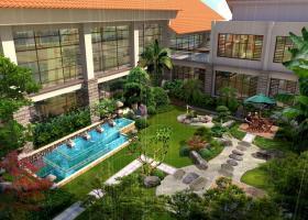 某私人庭院景观设计效果图带水池绿化设计