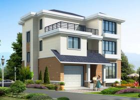 JF028三层带车库新农村自建房设计图别墅设计图纸